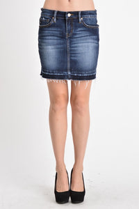 Kan Can Mid A-Line Belted Mini Skirt  Modelo KC6062D