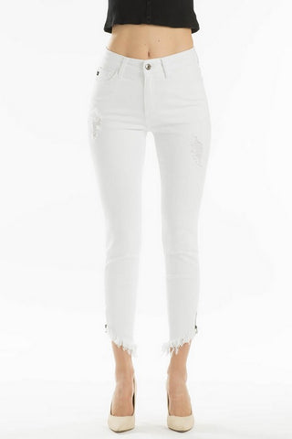 Kan Can High Rise Skinny Jeans White  KC6239WT