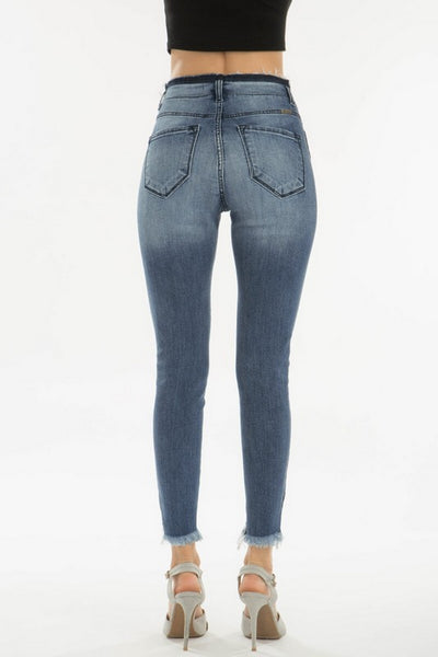 Kan Can High Rise Skinny Jeans Medium Wash  KC8433M
