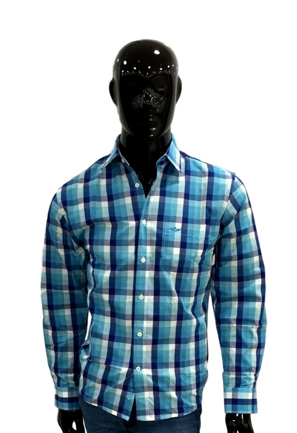 Natural Issue Camisa a Cuadros Mangas Largas  NI-N01-011