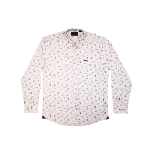 Natural Isuue Men's Long Sleeve Printed Shirt NI-S01-060