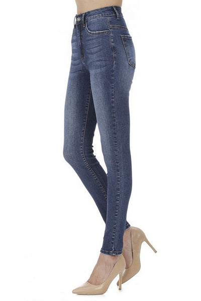 Nature Denim High Rise Skinny Jeans Dark Wash  NT2126DK