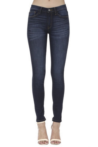 Nature Denim Women's Mid Rise Destroyed Skinny Jeans NT3200