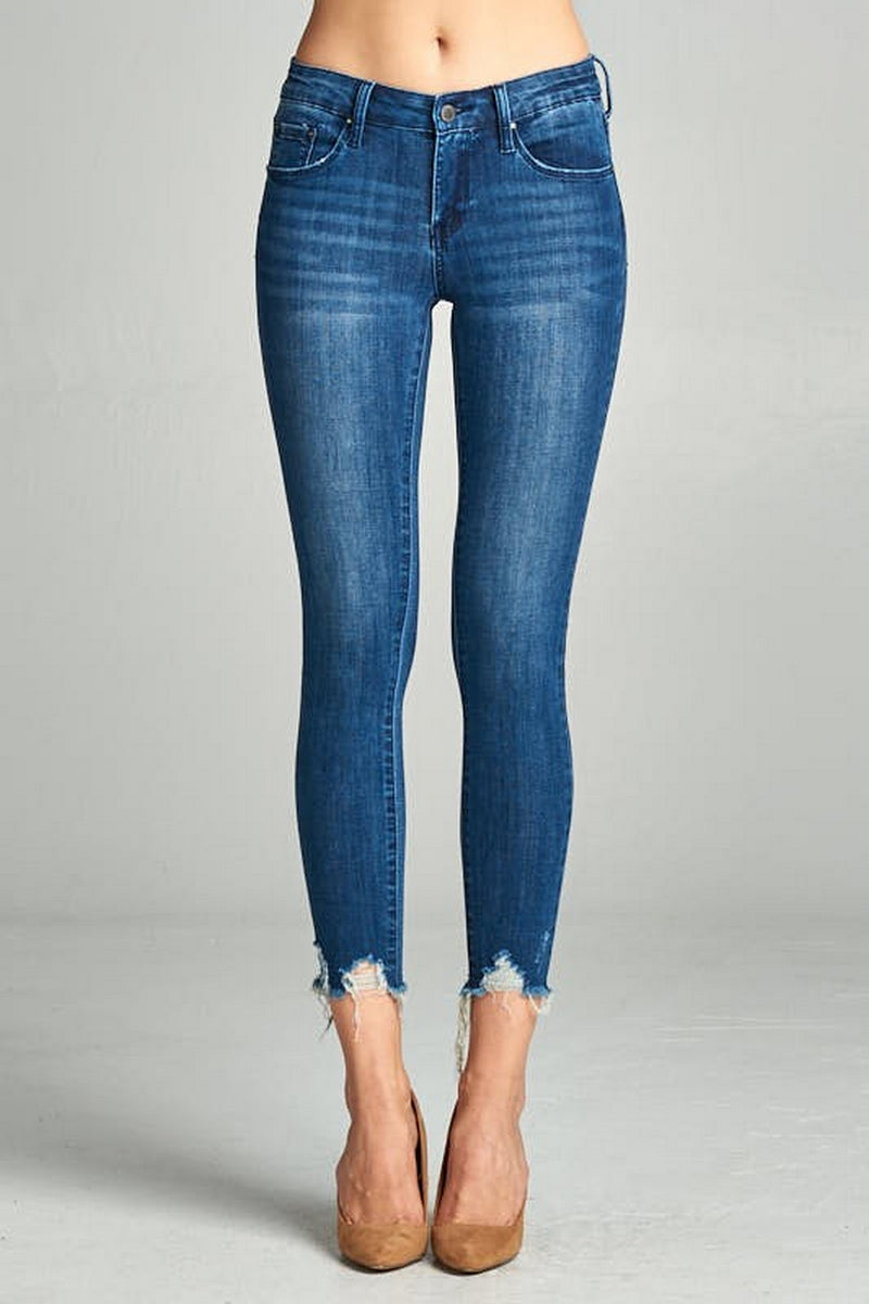 Special A Destroyed Dark Ankle Jeans-P2214