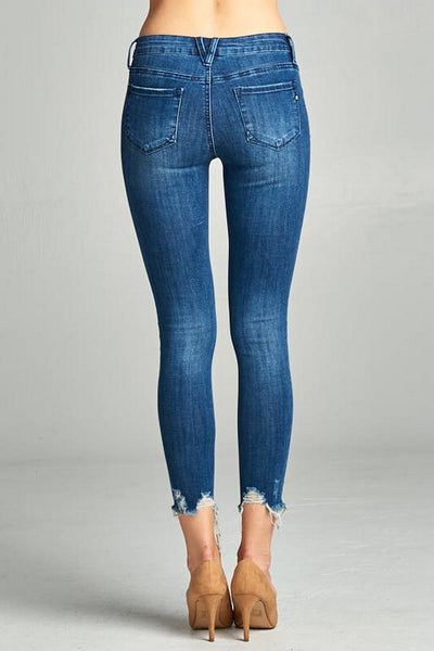 Special A Destroyed Dark Ankle Jeans  P2214