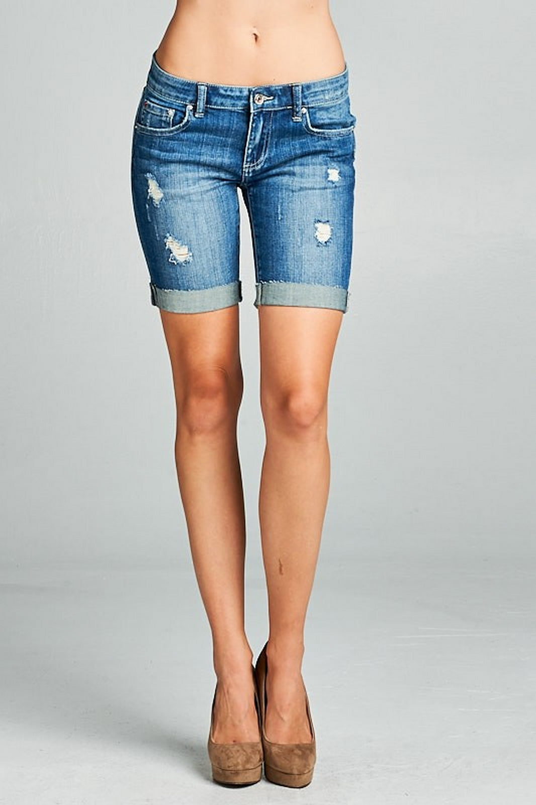 Special A Women's Mid Rise Bermuda Shorts S5497