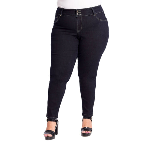 Susan Miller Women's High Rise Plus-Size Skinny Jeans Dark Denim  SM-A40-101B