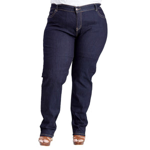 Susan Miller Women's High Rise Plus-Size Skinny Jeans Dark Denim  SM-A40-201A