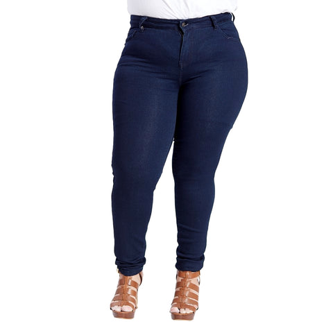 Susan Miller Women's High Rise Plus-Size Skinny Jeans Dark Denim  SM-A40-305A