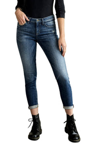 Sneak Peek Women's Mid Rise Straight Cuffed Ankle Skinny Jeans  SP-P10155