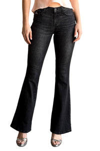 Sneak Peek Women's Mid Rise Flared Bootcut Skinny Jeans  SP-P10316