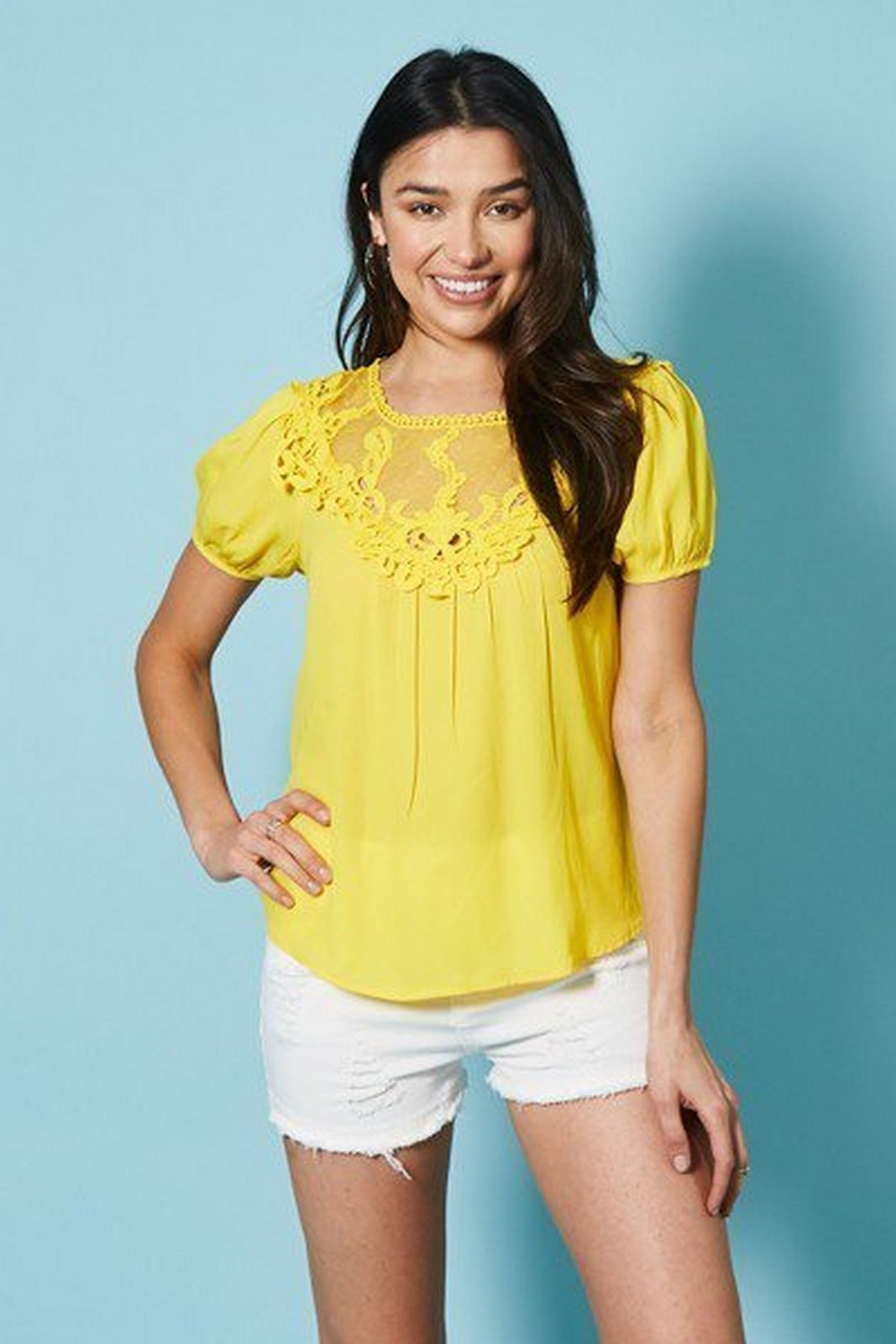 Short Sleeve Womens Top  T25693W