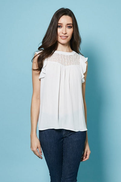 AVAILABLE Flounce Sleeveless Top  T59629W