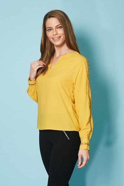 Long Sleeve V-neck Top  T59638W