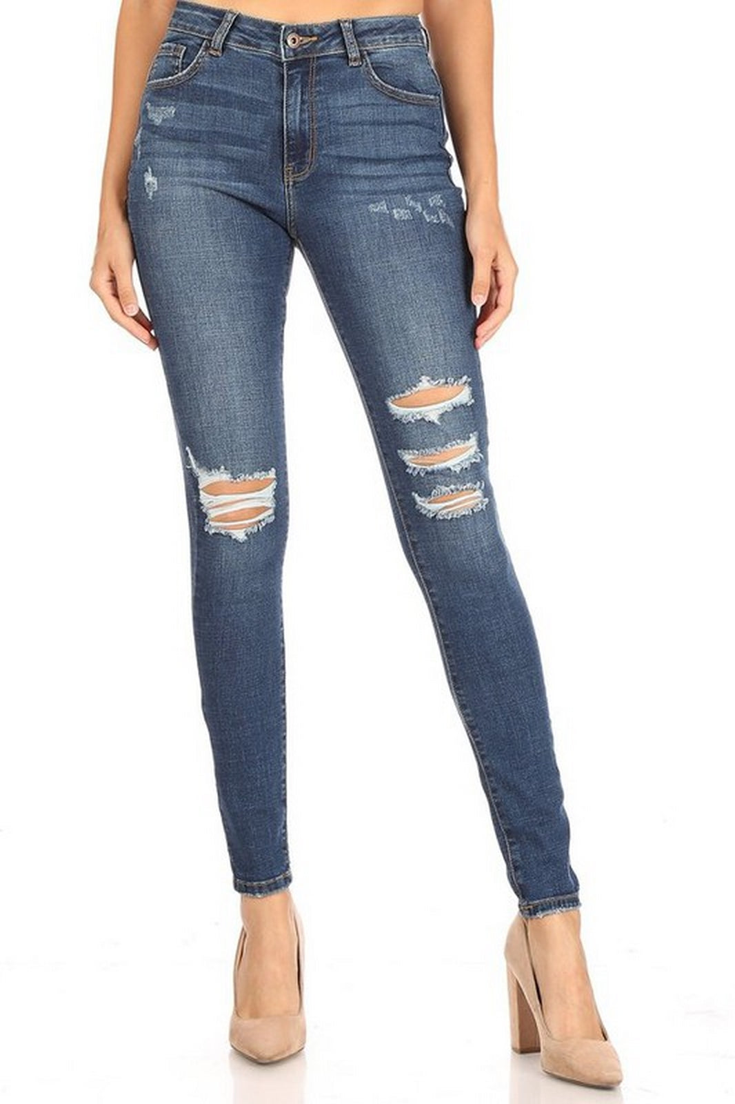 Encore Jeans High Waist Dark Wash V2099