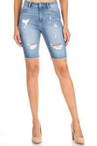 Encore Shorts Jeans Medium Wash V7147