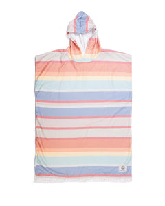 O&E LADIES SUNKISSED LIGHTWEIGHT HOODED PONCHO
