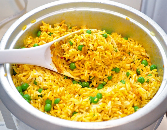 Golden Basmati Rice with Peas