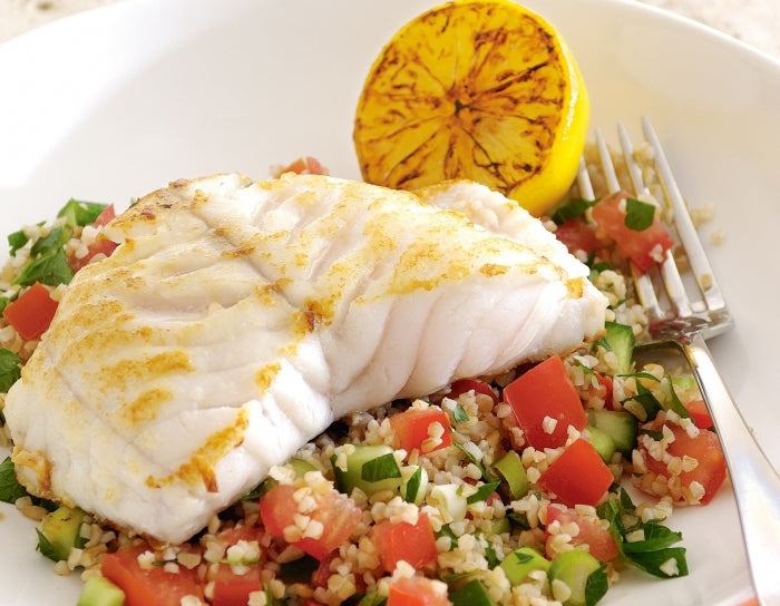 Pan-Fried Fish With Tabouli