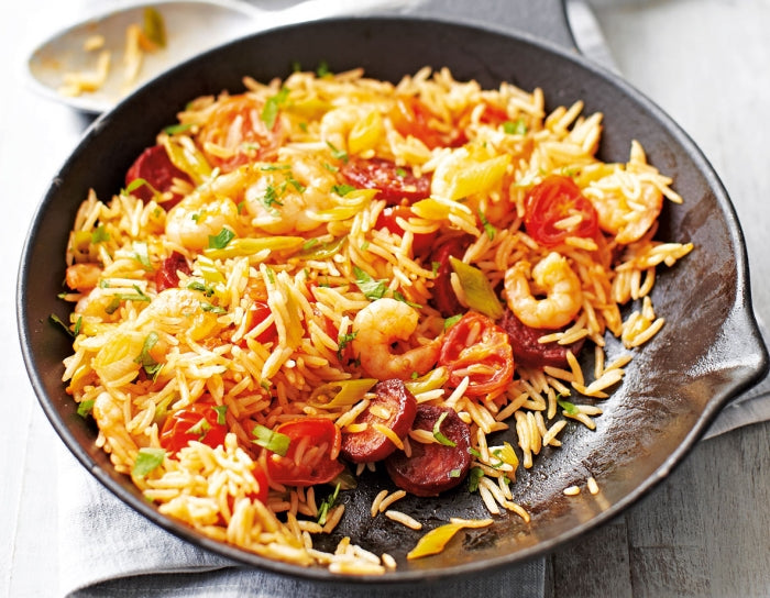 Chorizo And Prawn Rice