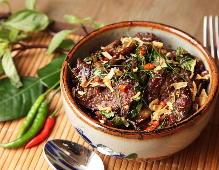 Thai-Style Beef With Basil and Chilie