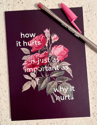 HOW IT HURTS - Greeting Card