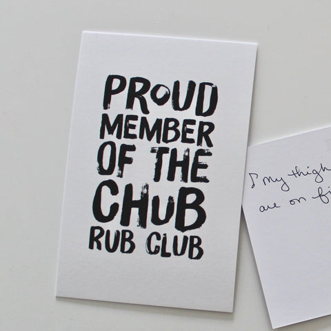CHUB RUB - Postcard