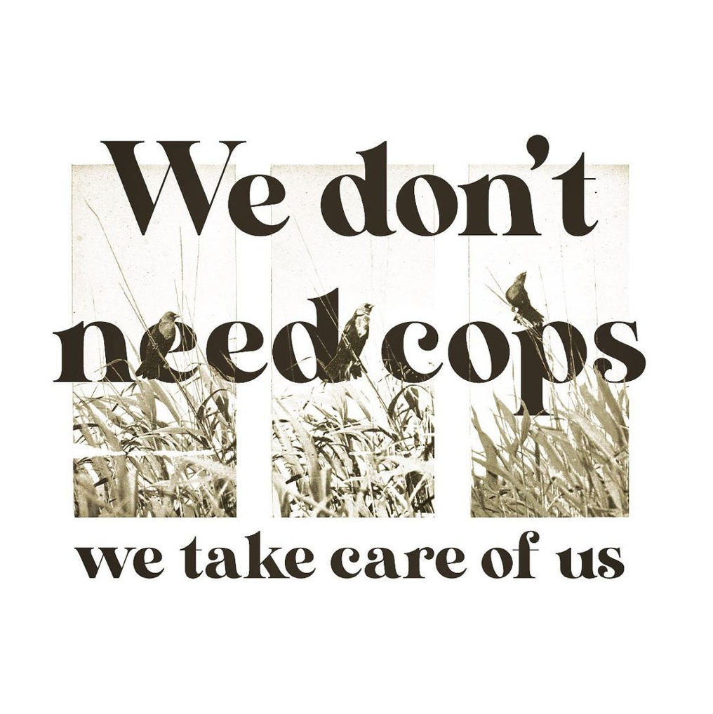 WE DON'T NEED COPS - Greeting Card