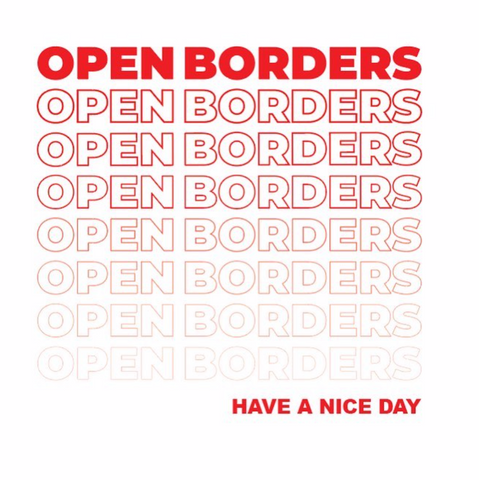 OPEN BORDERS - Greeting Card