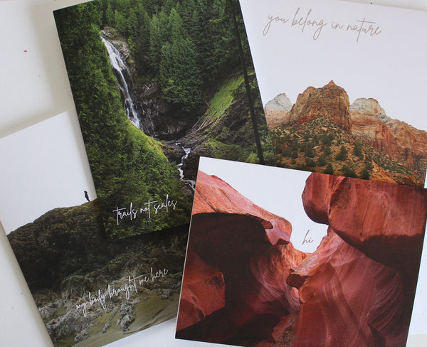 GREETING CARD SET - Support Fat Girls Hiking!