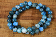 Load image into Gallery viewer, Blue Apatite Bracelet (8mm)