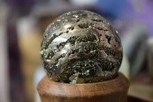 "Load image into Gallery viewer, Pyrite Sphere (2""-3"")"