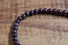 Load image into Gallery viewer, Garnet Bracelet (4mm)