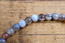 Load image into Gallery viewer, Botswana Banded Agate Bracelet (4mm)