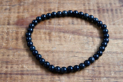 Black Obsidian Bracelet (4mm)