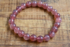 Strawberry Quartz Bracelet (8mm)