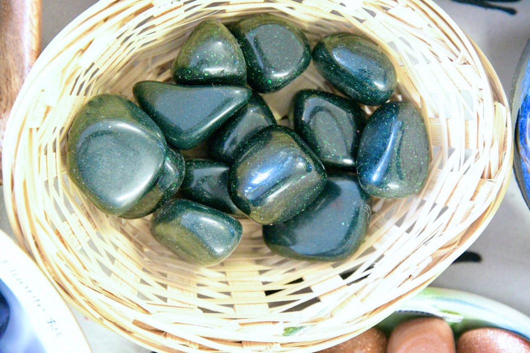 Green Goldstone (Tumbled)