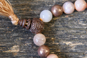 Moonstone + Copper Bracelet (8mm)