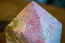 Load image into Gallery viewer, Rhodonite Raw Standing Point