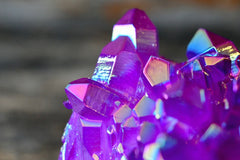 Purple Aura Quartz Cluster