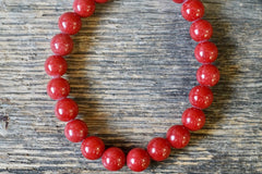 "Red ""Mountain"" Jade Bracelet (8mm)"