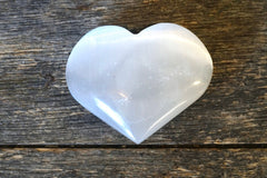 "Selenite Heart (3"")"