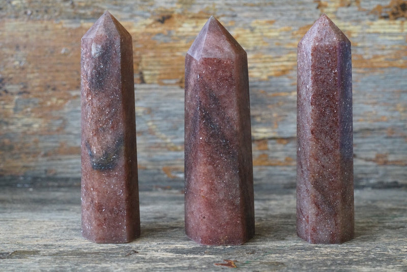 "Strawberry Quartz Obelisk (5""-6"")"