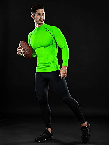 DRSKIN 1~3 Pack Mens Long Sleeve Compression Shirts Top Sports Workout Athletic Base Layer Dry Thermal Winter