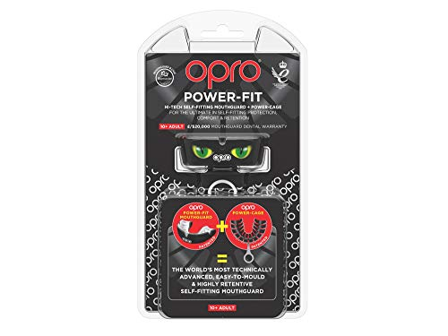 OPRO Adult Power-Fit Eyes Mouthguard with Strap