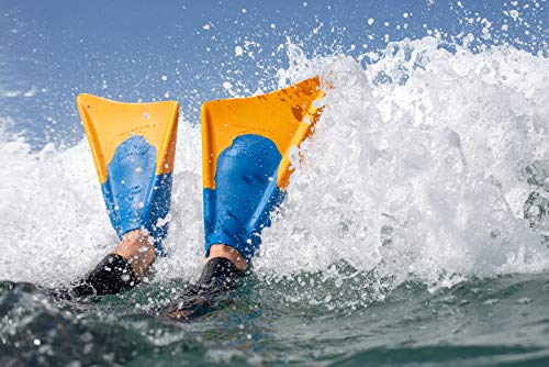Patented Dolphin Tail Swimfins for Thrust and Performance Diving Surfing Swimming Bodyboarding Comfortable Fit Fin Flippers Churchill Makapuu Floating Fins Made of 100/% Natural Gum Rubber