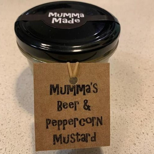 Mumma Made Beer & Peppercorn Mustard (240ml)
