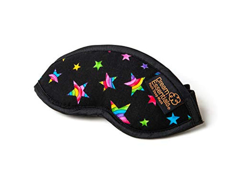 Dream Essentials Hush Children's Travel and Sleep Mask ~ Rainbow Stars - Made in The USA