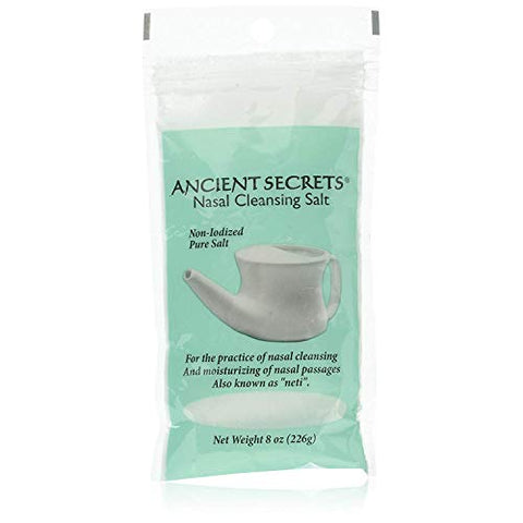Ancient Secrets Nasal Cleansing Pot Salt - 12x8 Oz
