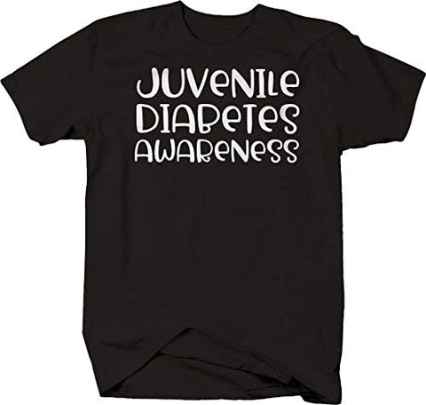 LIFESTYLE SHIRTS & GRAPHIX Juvenile Diabetes Awareness Type 1 Health Insulin T Shirt for Men 2XL Black